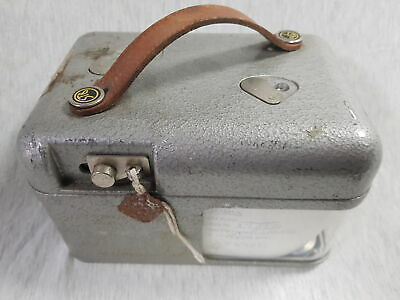 STB Vintage Pigeon Clock in Metal Case with Leather Strap & Key