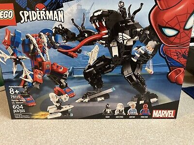LEGO Super Heroes Marvel Spider Mech vs. Venom 76115 Building Kit 604 Pieces