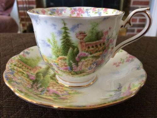 Vintage Royal Albert Kentish Rockery Bone China Teacup And Saucer 816998