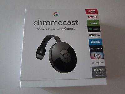 Google Chromecast Streaming Media Player 2nd Gen Latest Version Black New