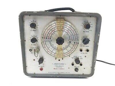Precision Apparatus Co E-200-c Tube Signal Generator Rf-af Vintage
