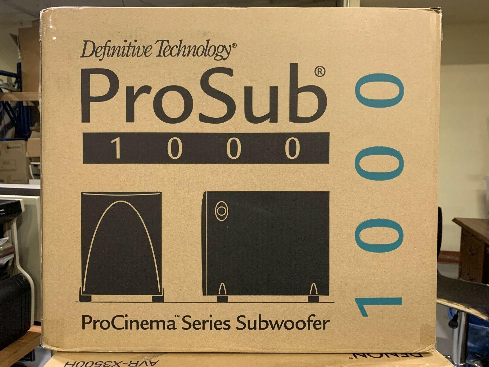 Lot of 2 ProSub 1000 Definitive Technology 120V Speaker
