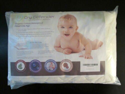 Dry Defender~NIP Organic Cotton Waterproof Crib Mattress Pad~Quilted Ivory  New!