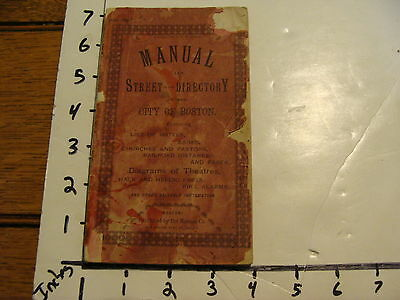 Vintage Book  Manual And Street Directory Of The City Of Boston  Circa 1891