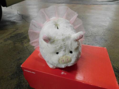 Animal Adventure Ballerina Pink Tutu White Piggy Thrifters Plush Bank Cute 3D