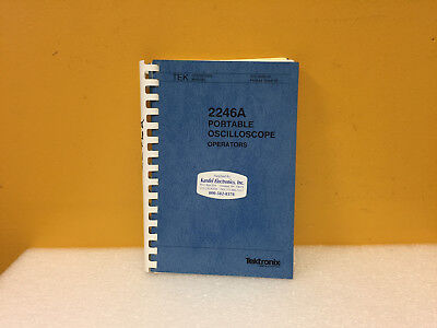 Tektronix 070-6556-01 2246a Portable Oscilloscope Operators Manual