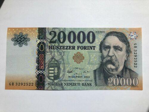 Hungarian Banknote 20000 HUF Forint Hungary 2015 GEM UNC CU Uncirculated
