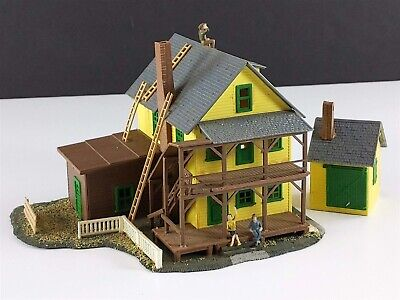 Model Power Rooming House with Shed Vintage HO Scale Building Built