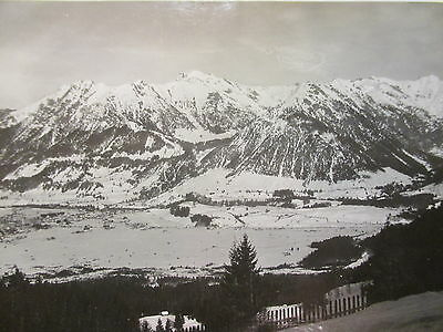 Orig Privat Foto TRAUMFOTO Rar Winterlandschaft Schnee Idyll OBERSTDORF ALLGÄU