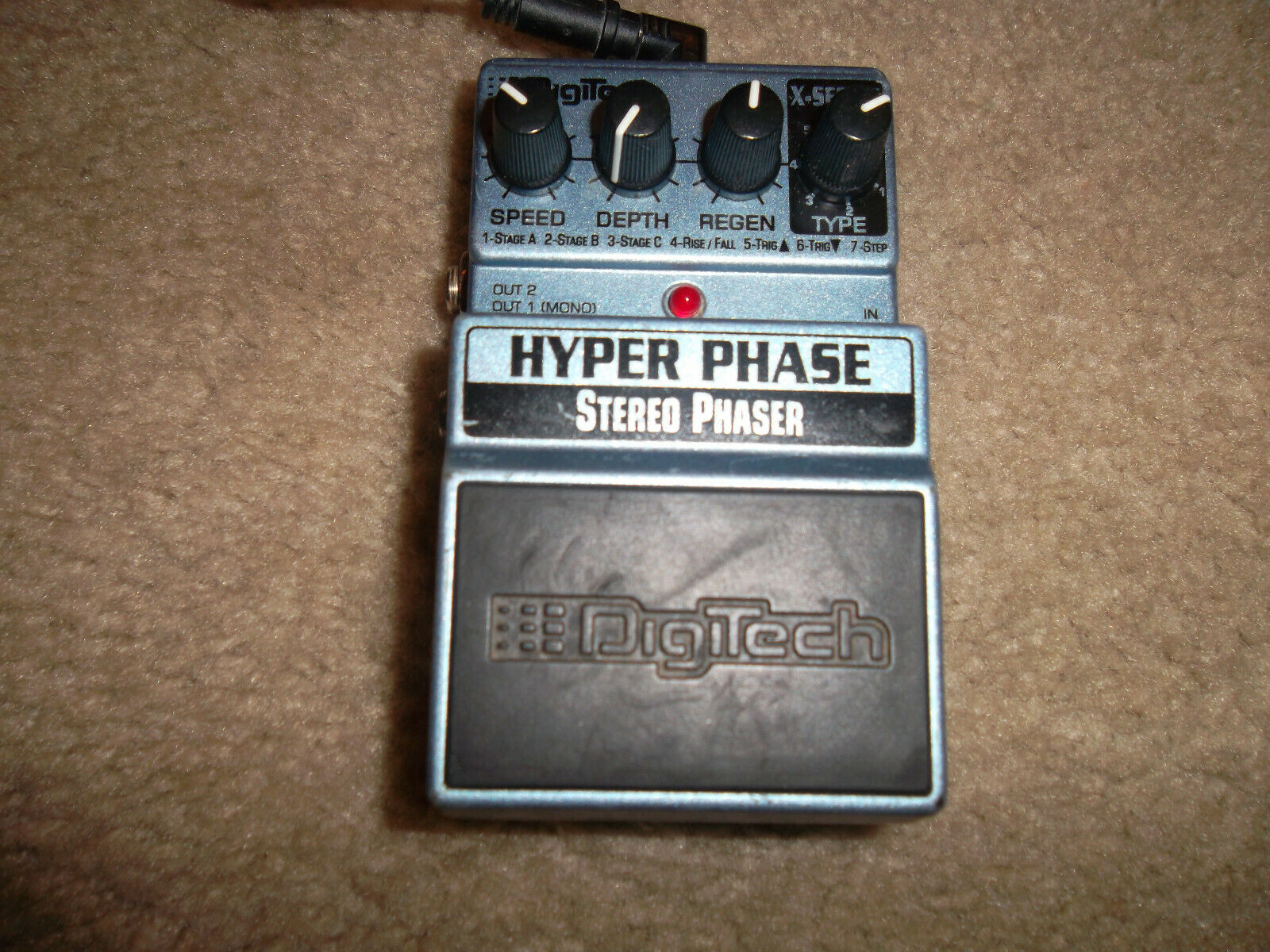 DigiTech X-Series HYPER PHASE STEREO PHASER Guitar Effects Pedal - $25.00