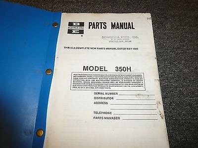 Bucyrus-erie 350h Crawler Mounted Excavator Shop Service Repair Manual Book