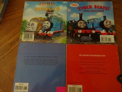 4 SC THOMAS THE TANK ENGINE BOOKS-TRACK STARS/DIESEL'S DEED/DIESEL 10/CATCH ME