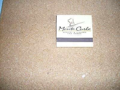 UNUSED MATCHBOOK FROM MONTE CARLO HOTEL LAS VEGAS