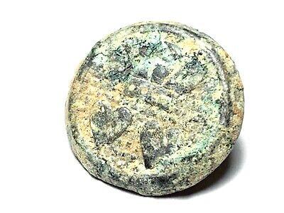 Rare dug 1661 King Charles I & Catherine Braganza commemorative marriage button