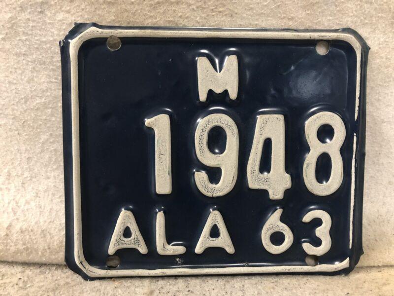 Vintage 1963 Alabama Motorcycle License Plate