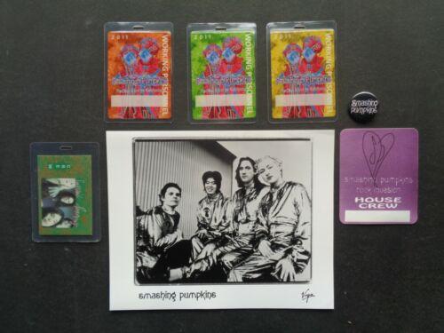 "SMASHING PUMPKINS,8x10"" B/W Promo Photo,5 Original Backstage passes,steel pin"