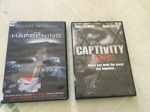 The happening DVD and captivity DVD.