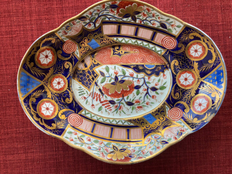 "c. 1806-1825 Crown Derby Dish 8.5"" Old Imari or"