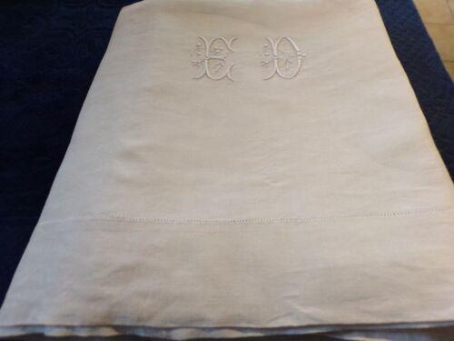 """Sheet Linen Monogram """" Th D """""""