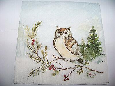 chten Woodland Owl Eule auf Ast (Eule Weihnachten)
