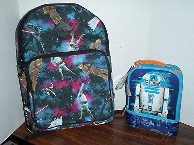 STAR WARS  BOOK BAG BACKPACK DARTH  VADER.AND GANG  18 X 12 & Lunchbox