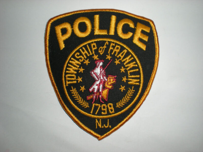 """FRANKLIN TOWNSHIP, NEW JERSEY POLICE DEPARTMENT PATCH - """"1798"""""""