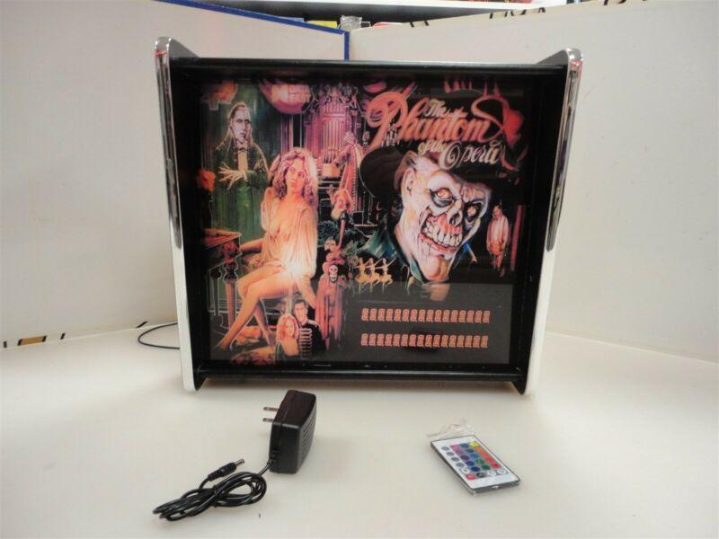 Phantom of the Opera Data East Pinball LED Backglass Display light box