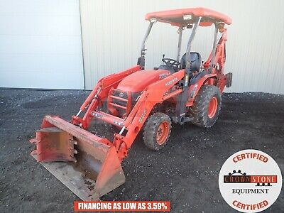 2007 Kubota B26 Tractor Loader Backhoe Canopy 4x4 Outriggers 474 Hours 540 Pto