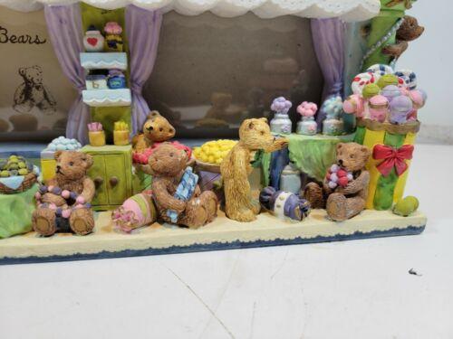 Vintage bears Clock/photo frame - Child/baby Room or Nursery sweet space Mantle