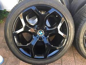"4x GENUINE BMW X5 20"" 214 Y SPOKE ALLOY WHEELS AND RUN FLATS TYRE Blakehurst Kogarah Area Preview"