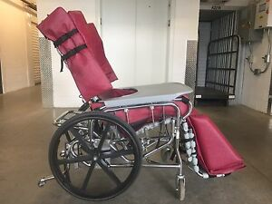 18 inch wide Seat BRODA WHEELCHAIR. Tilt and Recline