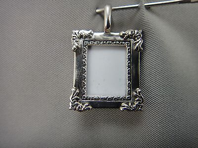 Vintage Sterling Silver Portrait Picture Frame Charm Pendant 925 Marked GA