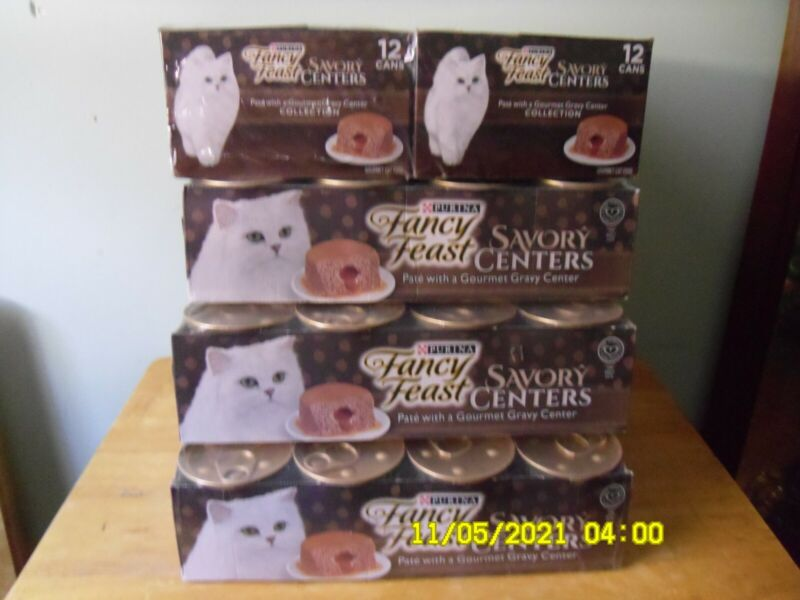 PURINA FANCY FEAST SAVORY CENTER 3oz cans 24 case of chicken flavor