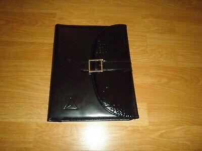 Leather Padfolio Folded Organizer Letter Notepad Holder Pen Holder