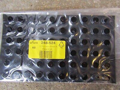 5 packs of 60 Round Anti Vibration Feet,12.7mm dia PUR +65°C -34°C B714 248524