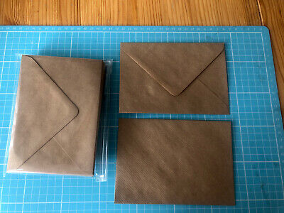 Pack Of 20 Vintage Brown Kraft Envelopes - C6 - 166mm X 114mm - Card Making