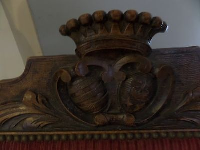 19th Century Carved Oak Masonic Chair Gargoyle Lion Armchair Chair
