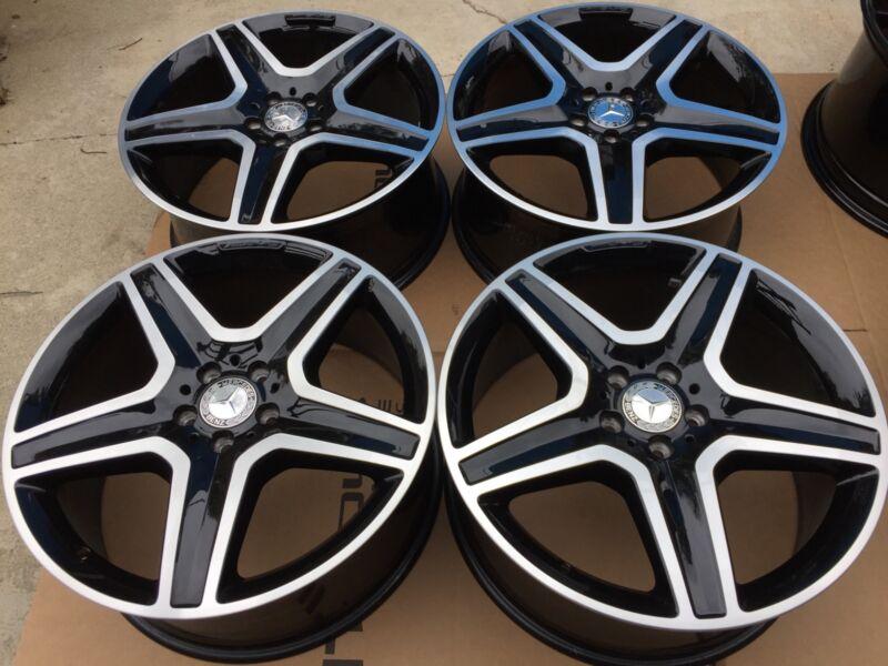 """20"""" New Oem Factory Mercedes Gle63 Gle450 400 350 Ml Glc &more Amg Black Wheels"""