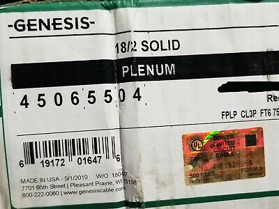 Honeywell Genesis Cable 4506 182c Solid Fplp Plenum Fire Alarm Wire Red 100ft