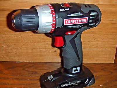 "CRAFTSMAN CORDLESS DRILL/DRIVER 5275.1 LITHIUM ION 1/2"" CHUCK 19.2 VOLT"