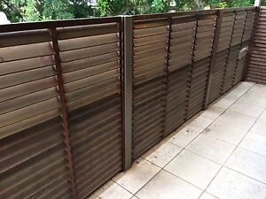 Cedar Timber Screens Shutters Wooden Balcony Used Tempe Marrickville Area Preview