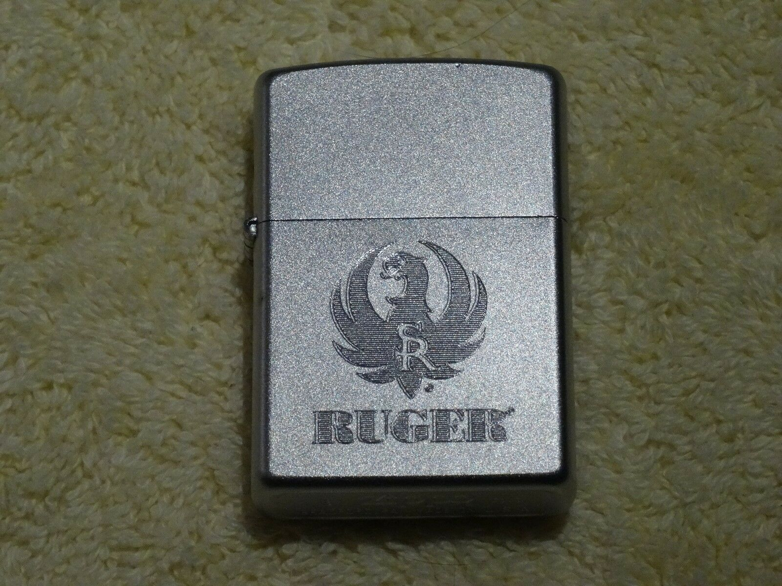 RUGER CHROME COMPUTER ETCHED ZIPPO LIGHTER - 2003 - MANUFACTURER SEALED, RARE