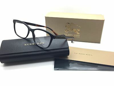 Burberry Men Black Square New Eyeglasses B 2242 3001 53 Plastic