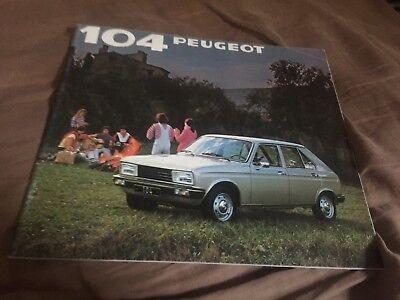 1981 Peugeot 104.28 Page Color Sales Brochure Prospekt