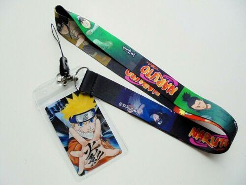 Naruto Key Chain #1 Neck Strap Lanyard w/ ID Card Holder U.S. Seller
