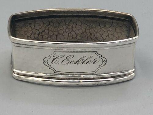 Oblong Webster Sterling Silver Napkin Ring , hammered