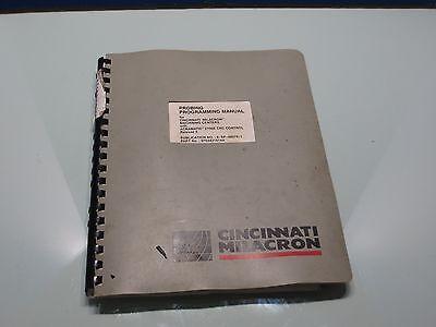 Cincinnati 400 Ep Cnc Probing Programming Manual 6-sp-98075-1 9703431814a