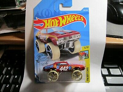Olds 442 W-30 #240 Art Cars 2019 Hot Wheels Case P