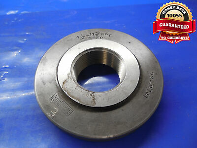 1 14 11 12 Npt L1 2 Step Special Pipe Thread Ring Gage 1.25 11.5 N.p.t. L-1