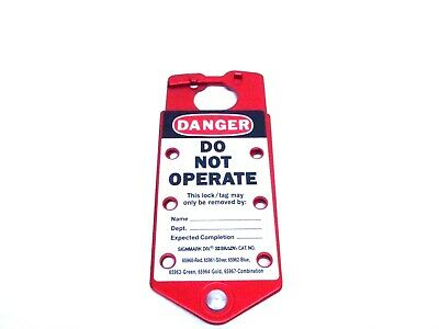 Brady 65960 Red Lockout Hasp Labeled Danger Do Not Operate